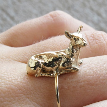 'yes, dear' ring.  i know you're sold out, but i adore you still.Women Fashion, Woman Fashion, Animal Jewelry, Meat, I Adorable You, Fashion Jewelry, Into The Wood, Dear Rings, Deer Rings