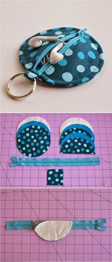 ARTE COM QUIANE - Paps,Moldes,E.V.A,Feltro,Costuras,Fofuchas 3D: estojo porta fone de ouvido