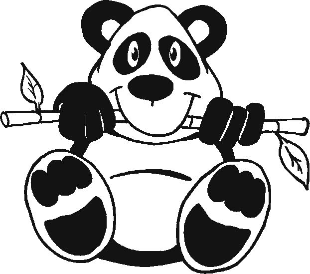 Panda Bear Coloring Pages Printable Baby shower Pinterest
