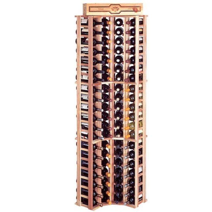 nice Wine Cellar Improvements Rustic Pine Curved Nook Wine Rack for 84 Wine Bottles