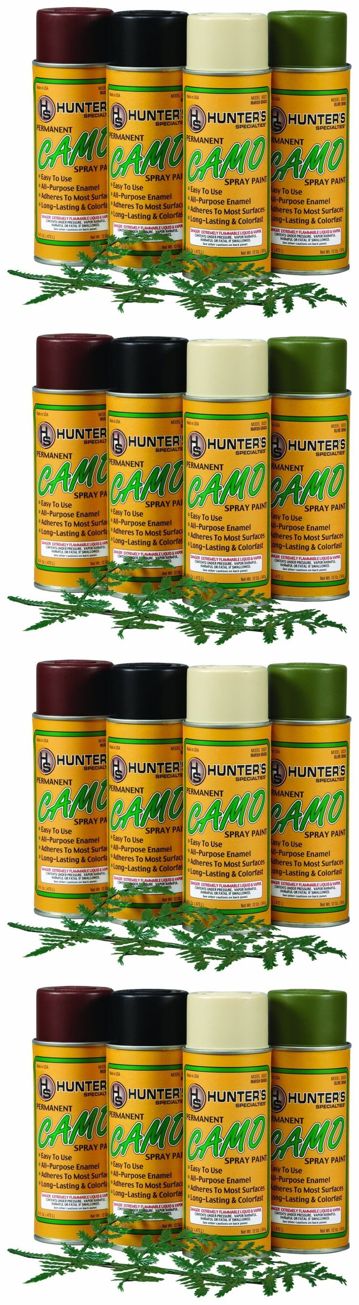 Camouflage Materials 177911: Permanent Camo Spray Paint Kit With Leaf Stencil Drab Tan,Brown,Black,Olive Hunt BUY IT NOW ONLY: $36.49