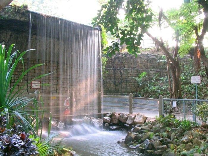 Más de 25 ideas increíbles sobre Wasserfall im garten en Pinterest - garten steinmauer wasserfall