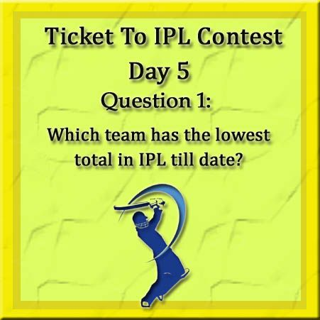 We are back with the last installment of Ticket To IPL 2014 Participate in today's contest, get a chance to watch your favorite team at the stadium.  Rules remain same.  Step 1: Like the Linc Facebook page Step 2: Share all the posts on your timeline Step 3: Answer all the 4 simple questions correctly  Here goes the first question..