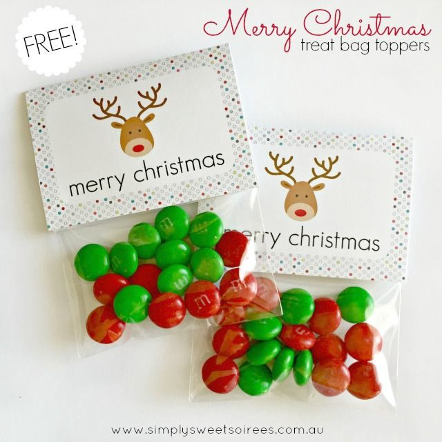 Free Merry Christmas Treat Bag Toppers from Simply Sweet Soirees