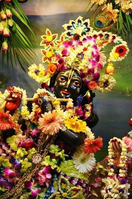 .Lord Krishna, Krishna & Balarama Mandir,  Vrindavana, India.