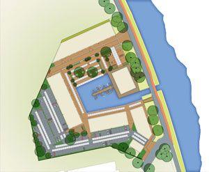 Design for the outdoor space of Wilhelminawerf, Utrecht by Vollmer & Partners