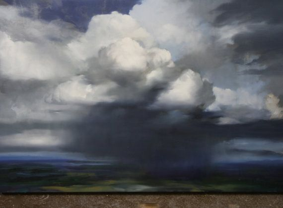 Original Cloud Painting painting of clouds by thecloudmobile
