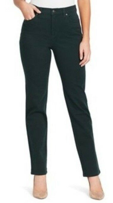 98c31e45961 Gloria Vanderbilt Amanda Stretch Jeans Slimming Tapered Leg Dark Green 10   GloriaVanderbilt