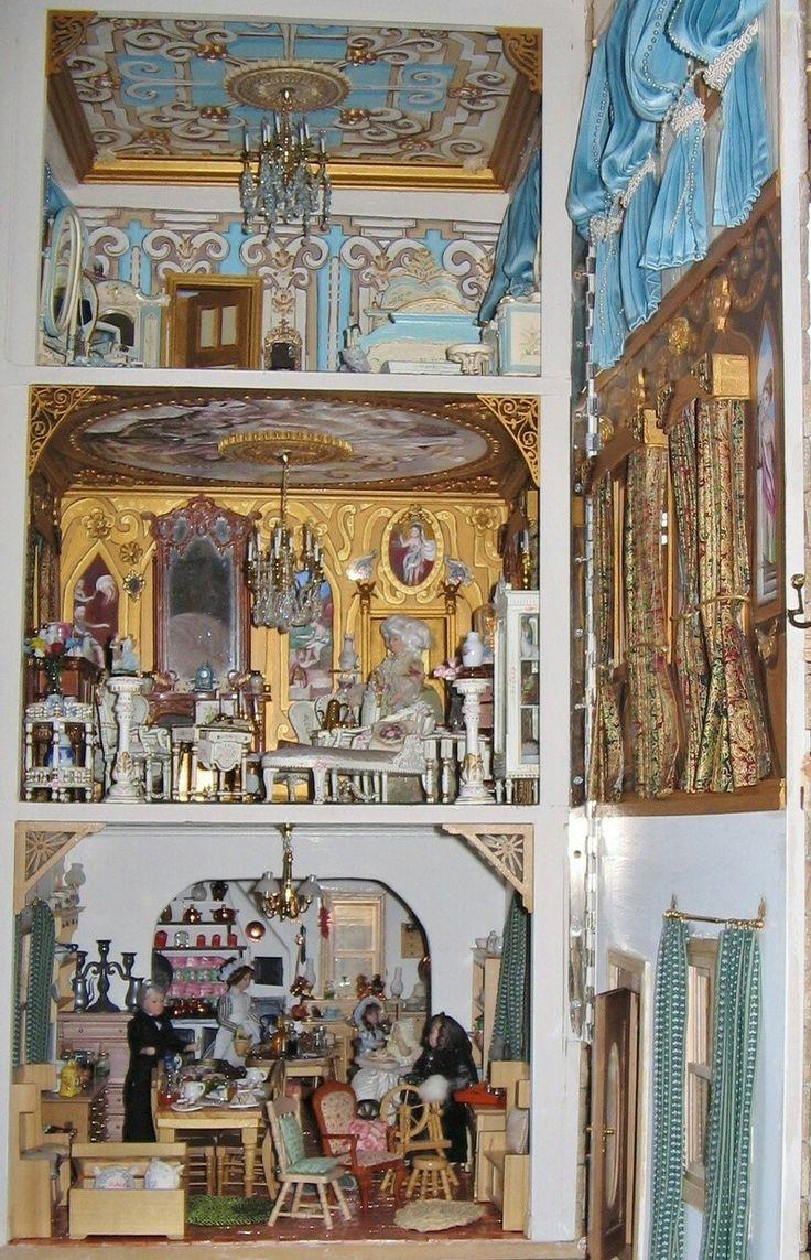131 best min teriors 2 images on pinterest for Dollhouse mural
