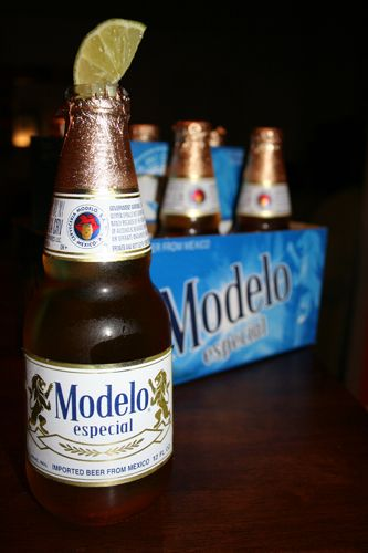 Modelo Especial, Mexican 4.4% 6/10. A rich, full-flavored pilsner beer with a slightly sweet, well-balanced taste, light hop character and crisp finish.