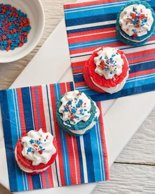 Cute, festive and fun these sweet little treats pack a big bang. These bite-sized desserts can be made ahead, leaving you more time to enjoy your 4th of July celebration..