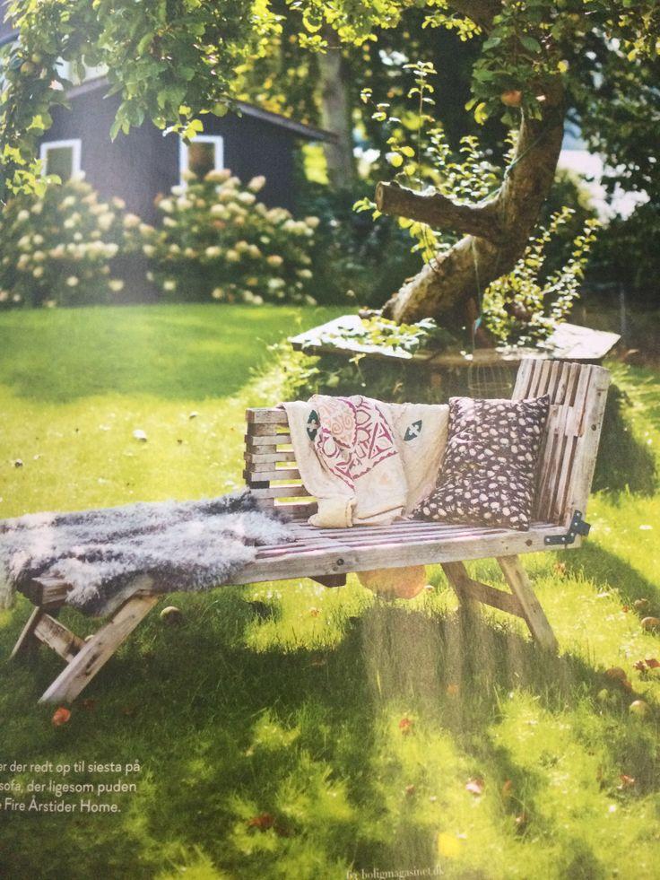 Sofa af trelle til haven