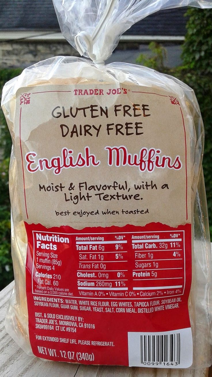 Read our review of Trader Joe's Gluten Free Dairy Free English Muffins.