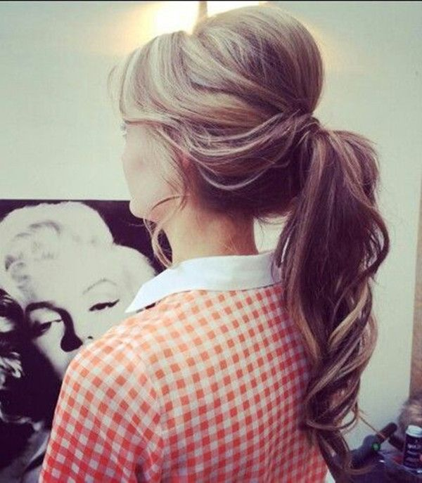 retro inspired ponytail with lots of volume at the crown ~ we ❤ this! moncheribridals.com