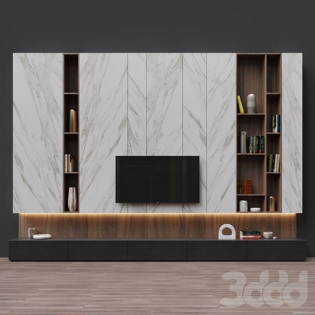 Pin by Юлия Зубарь on зона TV с 3ддд | Wall tv unit design ...