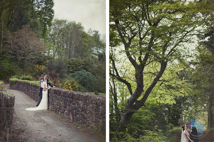 Walks on the grounds of Druids Glen #weddingshots #DruidsGlen  Photographed by www.studio33weddings.com #dublinweddingphotographer #studio33weddings    #alternative #modern