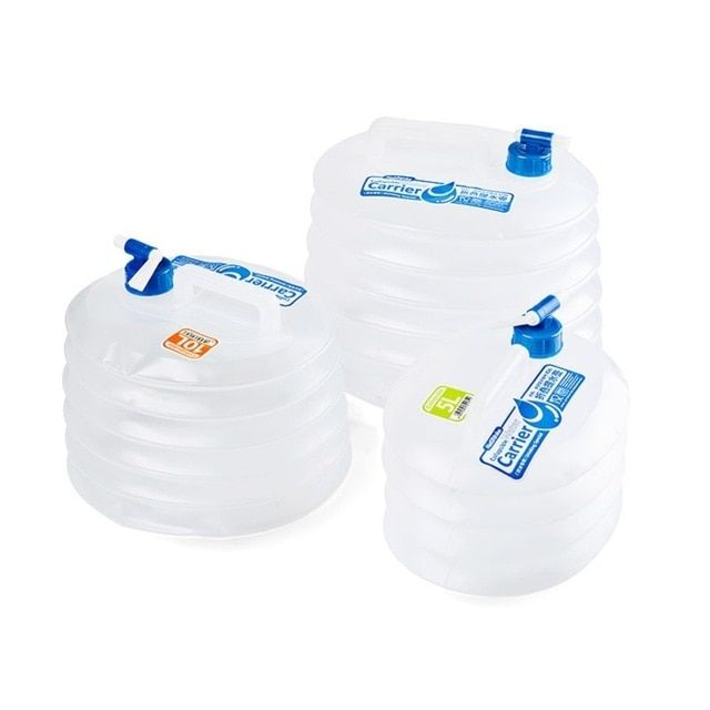 5L Water Container Large Capacity Collapsible Portable With Tap Storage Hiking