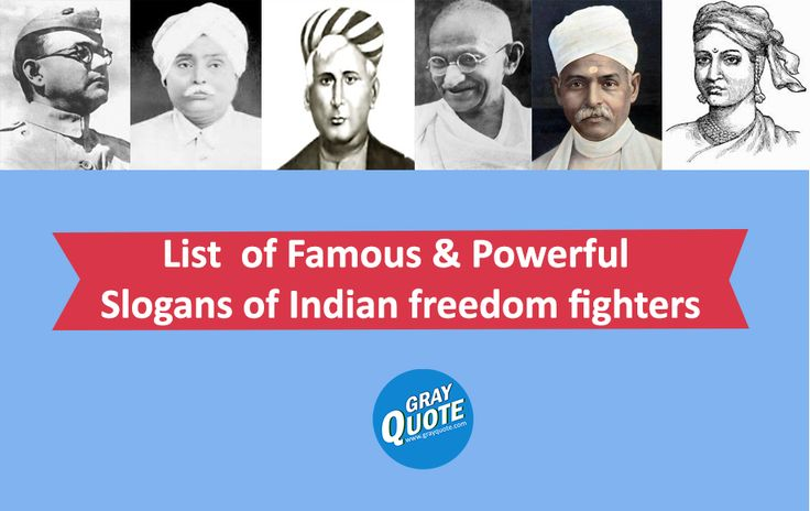 List of Famous & Powerful Slogans of Indian freedom fighters