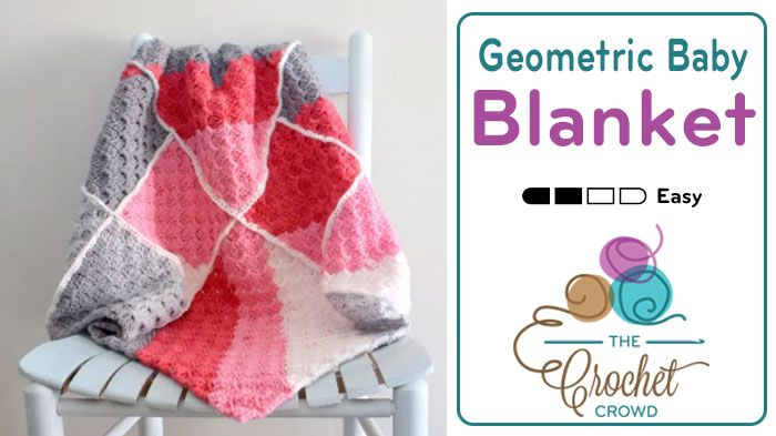 Crochet Geometric Baby Blanket If you love Corner to Corner (aka C2C) blankets, you may just fall head over heels