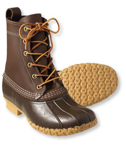bean boots: something to invest in so i stop falling on my face during inclement weather.