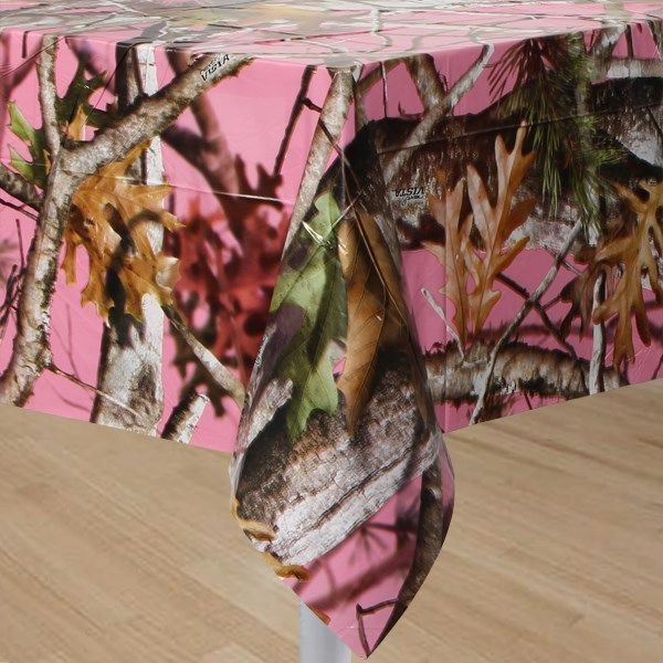 NEXT PINK CAMOUFLAGE PARTY WARE - PINK CAMO TABLECLOTH - WEDDING TABLE COVER #Next