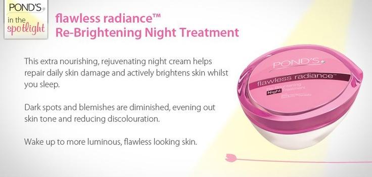 flawless radiance Re-Brightening Night Treatment #skin