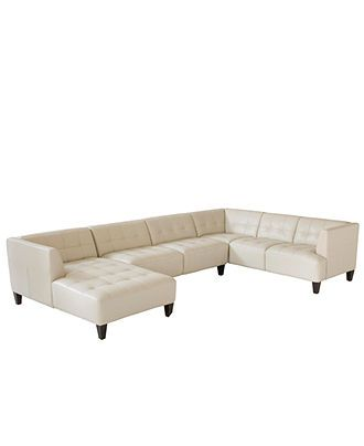 Alessia sofa chaise sectional rs gold sofa for Alessia leather chaise