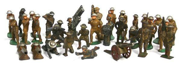 antique metal soldier toys: