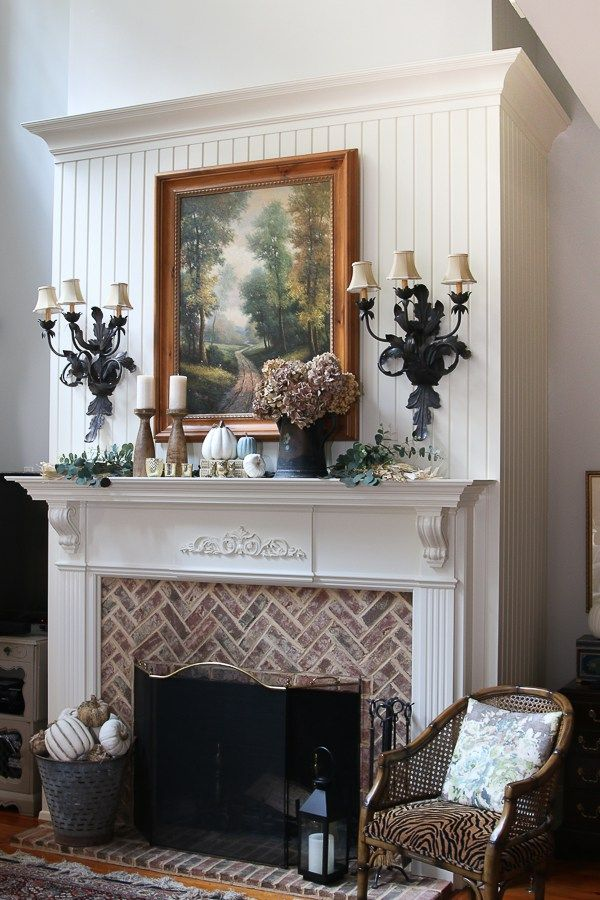 5 Fall Decorating Tips Our Southern Home Country Fireplace
