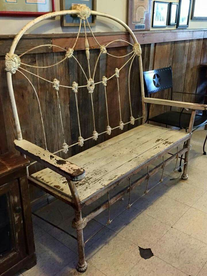 antique iron bed u0026 reclaimed wood made