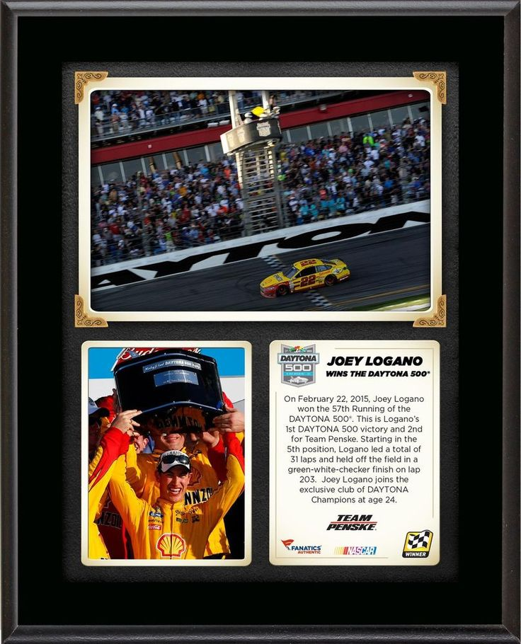 Joey Logano 2015 DAYTONA 500 at Daytona International Speedway Race Item#5498594 #Daytona500 #NASCARDriverPlaque