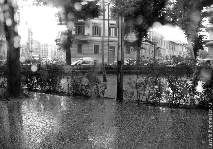 """Купить Авторская фоторабота """"Дождливый день"""", Флоренция, 2014 - серебряный, фоторабота, авторская фотография"""