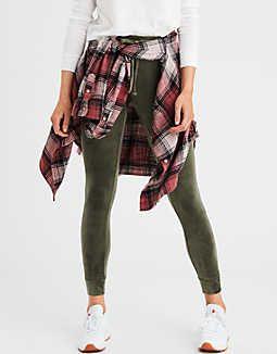 010ce1d6745e3 AEO Plush Velour Sweater Legging, Olive | Shopping Cart | Sweaters ...