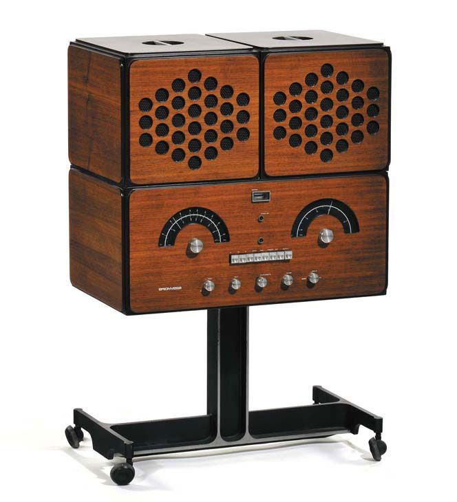 "The ""stereo radiophonograph"" Brionvega RR126 was designed in 1965 by the famous Milan-born designer and architect Achille Castiglioni (1918-2002),"