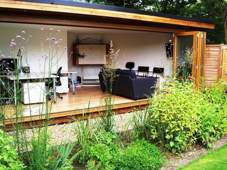Full Glass Front Bifold Doors Garden Studio | Sanctuary | Pinterest | Garden  Studio, Doors And Studio