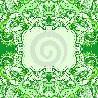 Floral Paisley Frame Royalty Free Stock Photo - Image: 19046615
