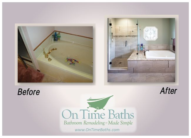 1000 images about bathroom remodel before after on pinterest toilet room the old and the two for Average time to remodel a bathroom