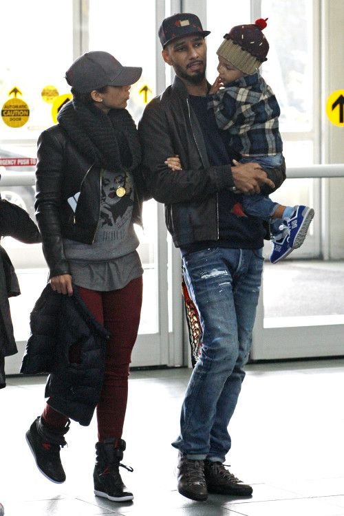 Jet setting family! Alicia Keys, husband Swiss Beatz and son Egypt were photographed together at the airport - Celebrity Baby Scoop