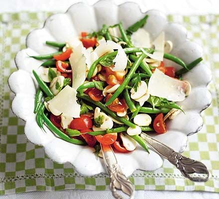 The crunchiness of green beans works particularly well in this salad
