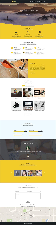 Great SWAN Company Portfolio Multi Purpose PSD Template  Company Portfolio Template