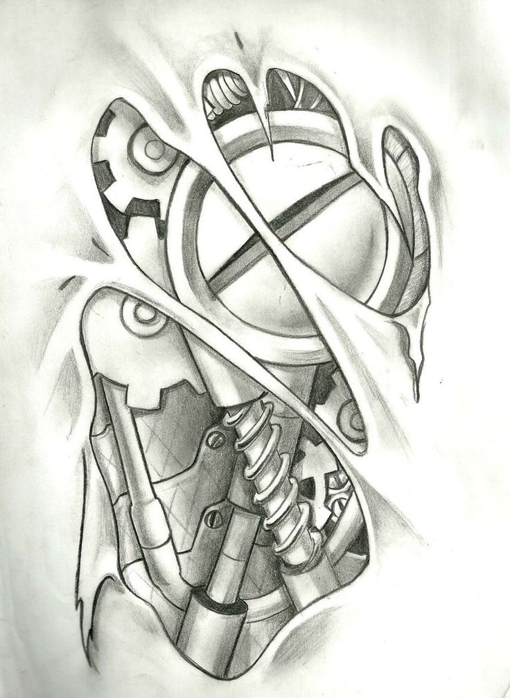 Mechanical Tattoo, Layout in Photoshop 9 hours of work ...