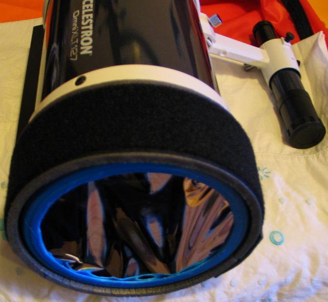 Bricolage tapa filtro solar para Telescopio Celestron SC 127 XLT - astronomo.org .