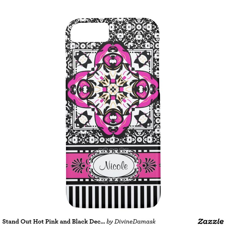 Stand Out Hot Pink and Black Deco iPhone 5 iPhone 7 Case