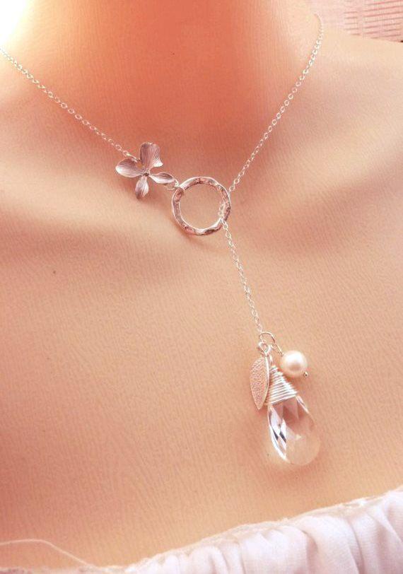 SNOW WHITE GARDEN  Swarovski  Clear Crystal by JCGemsJewelry