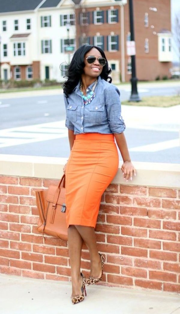 StitchFix: looking for a chambray shirt that will look good with skirts too.