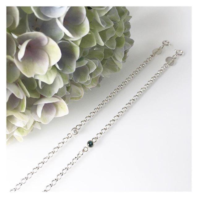 #silver #sapphire #tourmaline #bracelet #bracelets #finnishdesign #handmadeinpori #handmadejewelry #oonaarmiajewelry