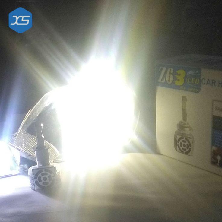 12v 60w 9012 3000k 4300k 6000k led head car light source 9012 yellow white car bulb replacement z6 9012 headlight