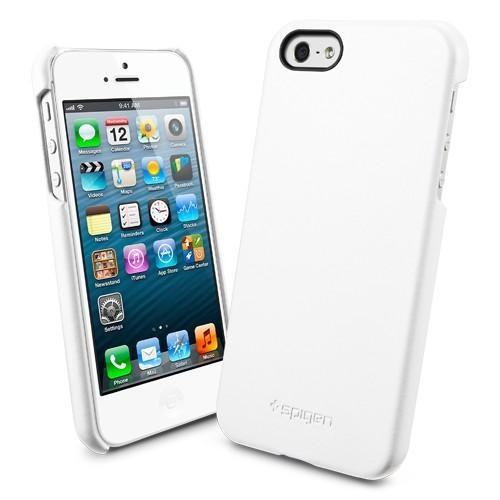 Husa piele iPhone 5 Grip white de la SPIGEN SGP