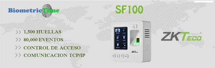 """El SF 100 es un equipo para el control de accesos y tiempo y asistencia que cuenta con pantalla TFT LCD de 2.4"""". Dispone de un lector de huella digital y 4 teclas de control para un manejo sencillo e intuitivo. Además cuenta con un diseño práctico y elegante. Es compatible con el software de gestión ZKAcces 3.5- ZKTime."""