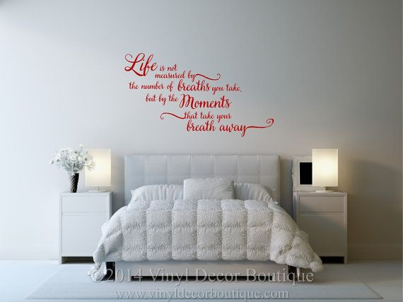 23 best Master Bedroom Wall Decals images on Pinterest | Bedrooms ...